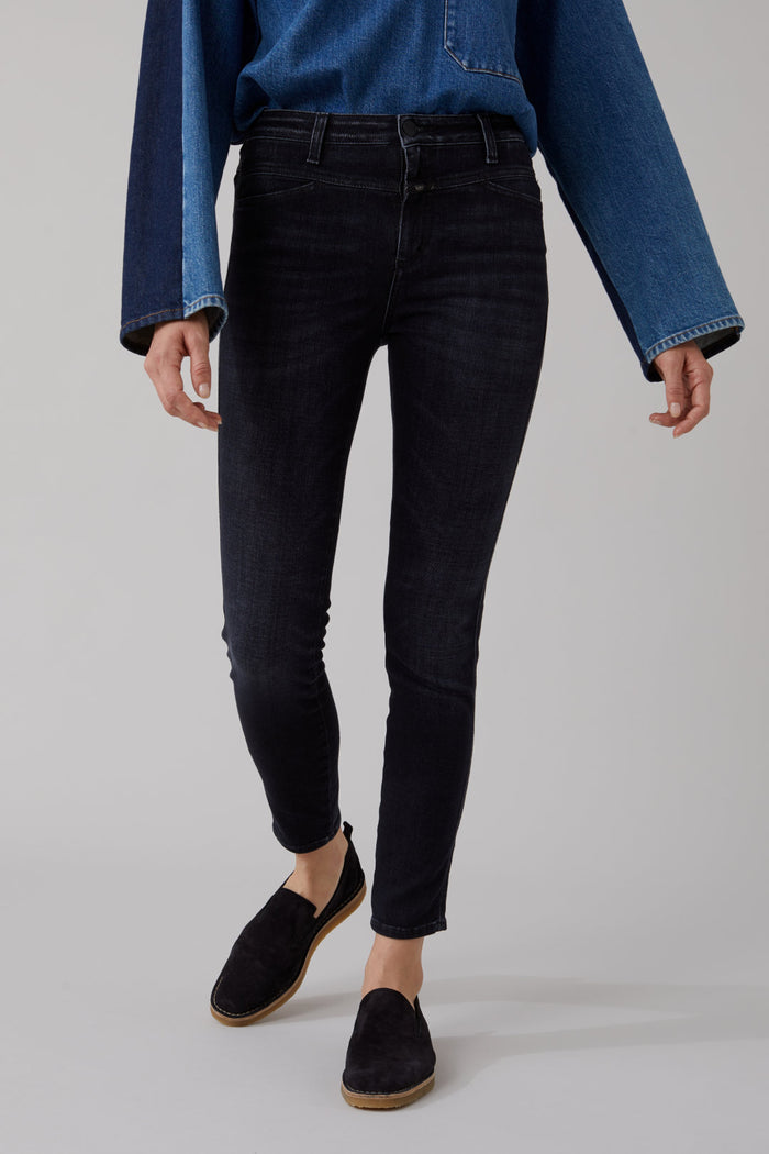 Skinny Pusher Black Shaper Denim