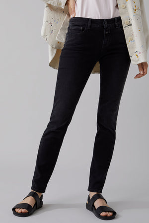 Baker Long Soft Stretch Black Denim