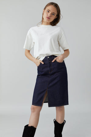 A BETTER BLUE Denim Skirt
