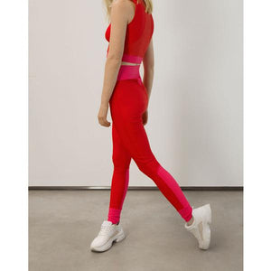 Go As U R High-Waist Red Leggings