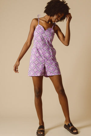 Gaia Playsuit in Pink Waterlily
