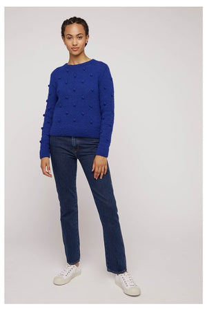 Gigi Bobble Jumper In Blue