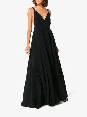 callalilly v neck maxi dress
