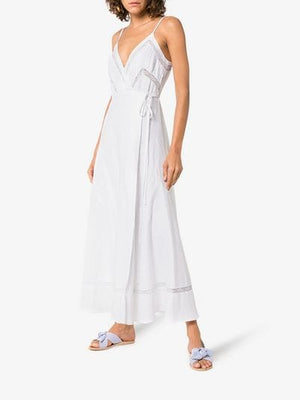daria wrap over maxi dress