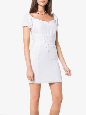'Hudsun' linen mini dress with belt