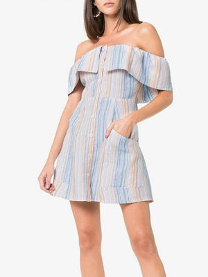 'Landy' off the shoulder linen dress