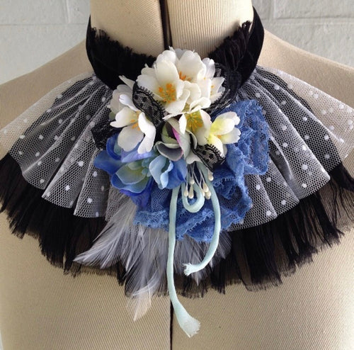 Floral Jabot Lace Collar