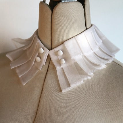 Double Pleated Silk Organza Collar