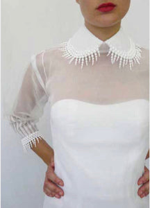 Drippy Lace Organdy Shirt