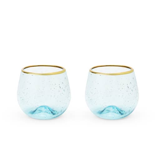 Aqua Wine Glass Set - Citral Living