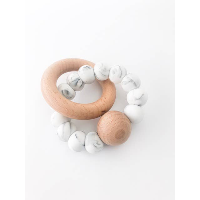 Levi Teething Rattle | Marble - Citral Living
