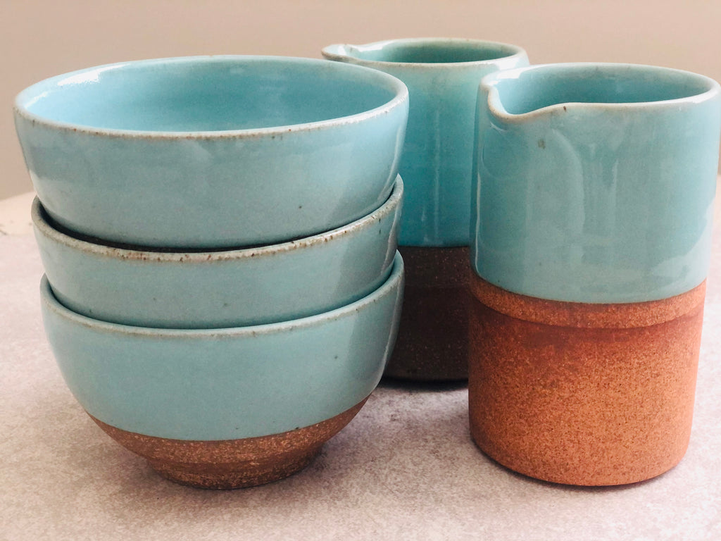 Terracotta Blue Straight Jug - Citral Living