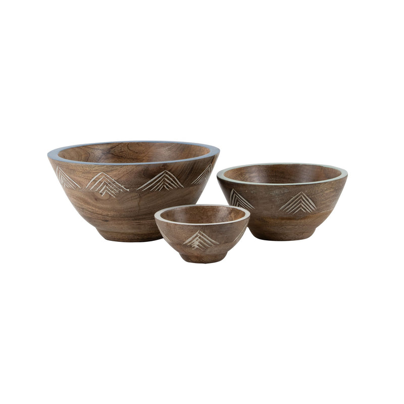 Niko Wooden Bowl, Set of 3