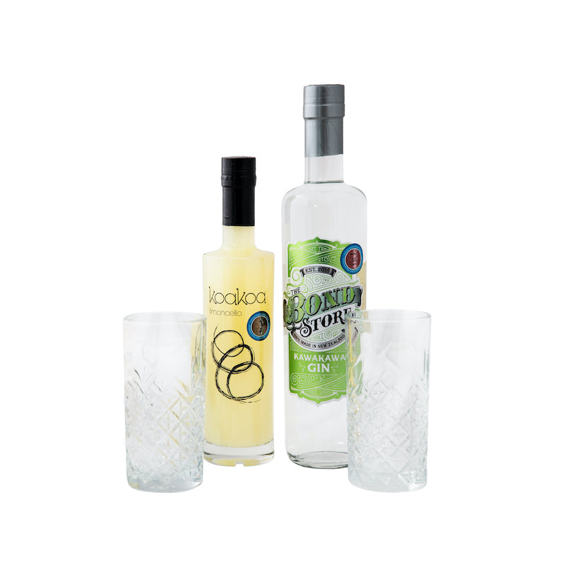 The Bond Store Kawakawa Gin & Koakoa Limoncello Gift Box
