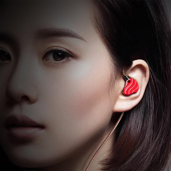 Dual Dynamic Earphone In-ear HIFI Sound Music Vibration Noise Cancelling Gaming Earphone With Mic