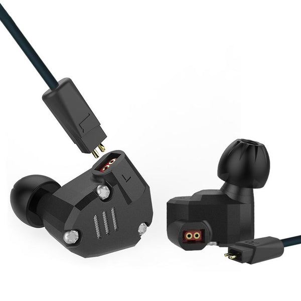 KZ ZS6 HiFi 8 Driver Earphone Dual Balanced Armature Dual Dynamic Driver Hybrid Headphone