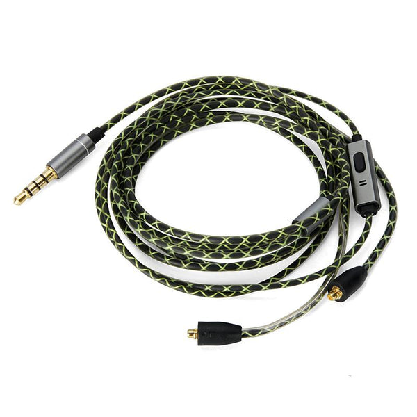 LEORY Replaceable Audio Cable 3.5mm For SHURE SE215/315/425/535/UE900 Earphone Wire Control With Mic