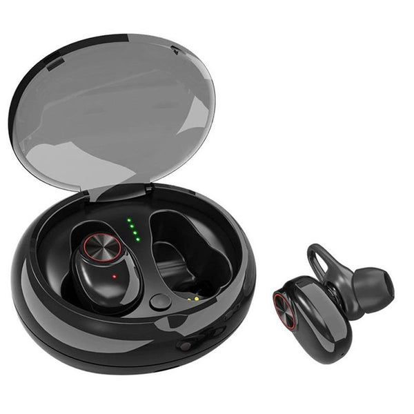 [True Wireless] TWS Wireless Bluetooth Earphone Noise Cancelling Stereo Headphone with Charging Box