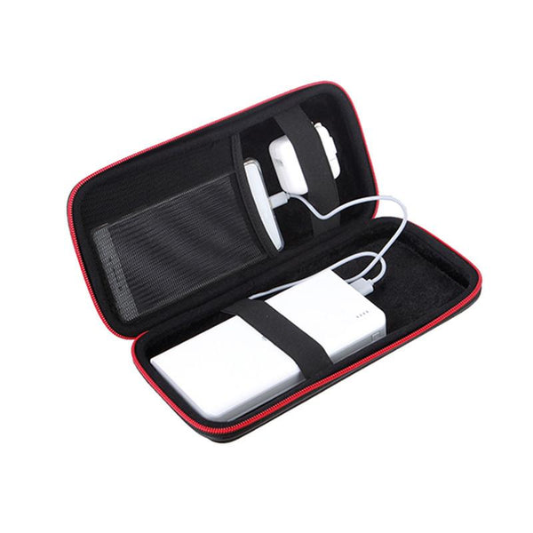 Portable Shockproof Power Bank Bag Hard Zipper Hang Rope Storage Box for Earphone Smartphone