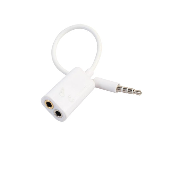 3.5mm 1 Male To 2 Dual Female Earphone Microphone Splitter Audio Cable Adapter For iphone Samsung