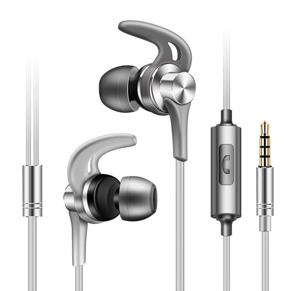 Fonge J02 Metal Sport Running Noise-cancelling Earphone Headphone with Mic for Mobile Phone Xiaomi