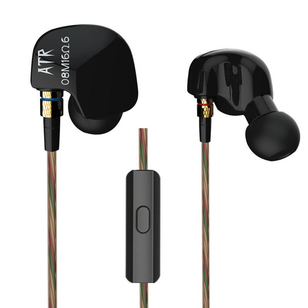 KZ ATR In-ear Heavy Bass HIFI Sport Wired Control Headphone Earphone With/Without Mic
