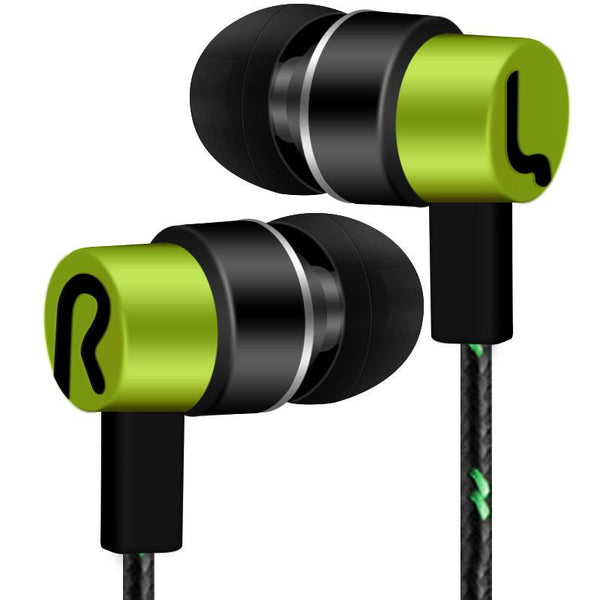 Universal 3.5mm Sports In-Ear Stereo Earbuds Earphone With Mic for Mobile Phone Computer MP3
