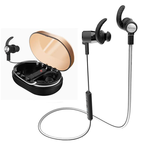 Magnetic Wireless Bluetooth Earphone Bass IPX7 Waterproof Sports Headphone With Charging Box