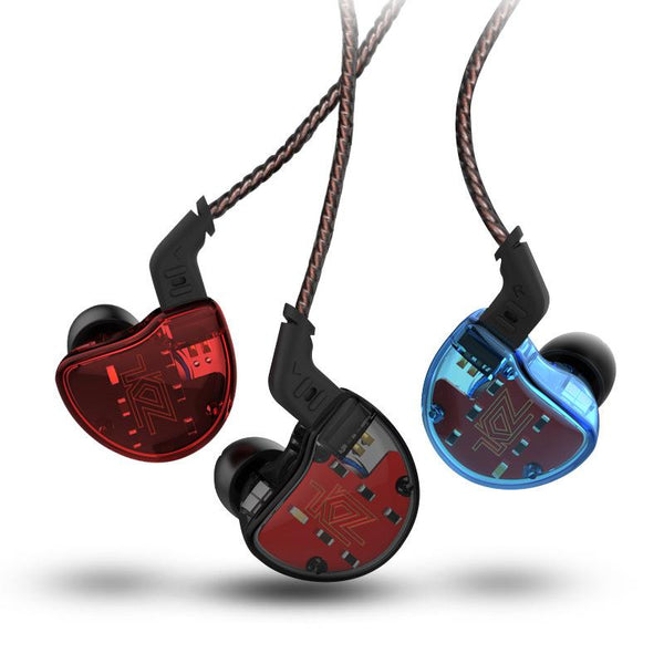 KZ ZS10 HiFi 10 Drivers 4BA+1DD Hybrid Earphone 4 Balanced Armature Dynamic Heavy Bass Headphone
