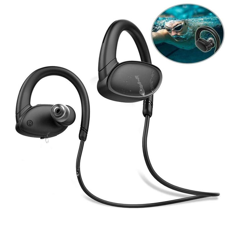 OVEVO X9 Red Wireless Bluetooth Earphone IPX7 Waterproof Swimming Sports Headphone with Mic