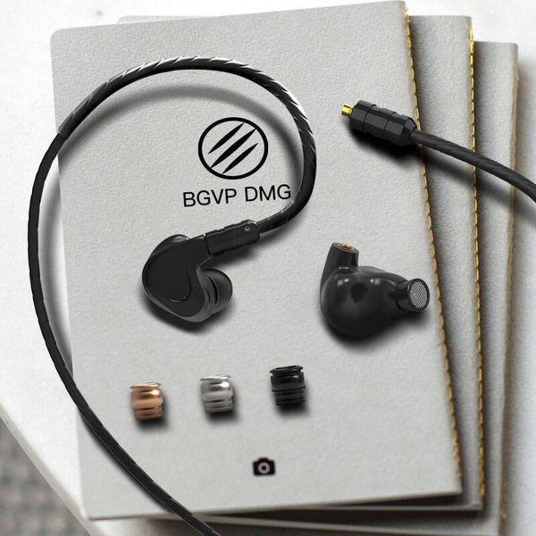 BGVP DMG 2DD 4BA Hybrid Driver Earphone Metal High Fidelity Monitor with Detachable MMCX Audio Cable