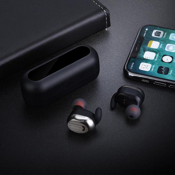 [Truly Wireless] WK BD800 Dual Bluetooth Earphone In-ear Stereo Sport Earphone With Charging Box