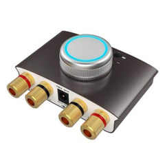 Bluetooth 4.2 Mini Digital 200W Amplifier DSP HIFI Stereo Sound High-Power Amp With Earphone Speaker