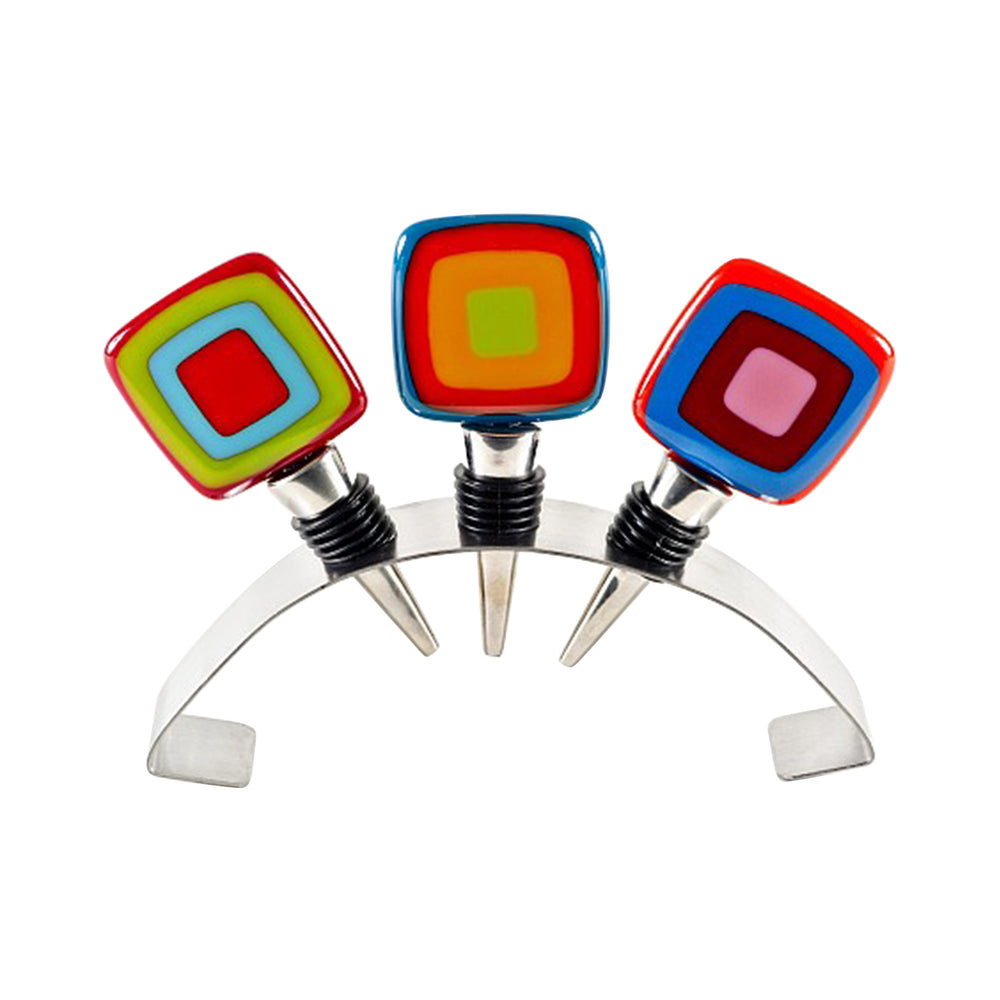 Set of Three Carnival-Style Winestoppers