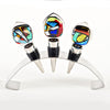 Set of Three Mardi Gras- Style Winestoppers