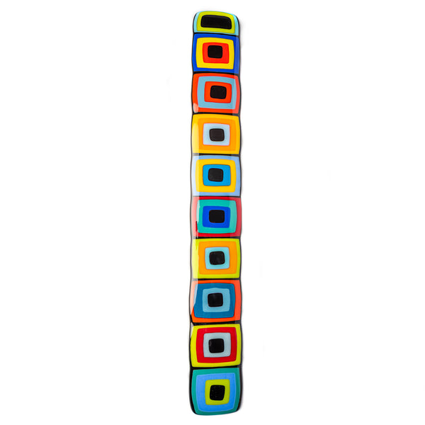 Carnival Wall Story Pole (Black Centers)