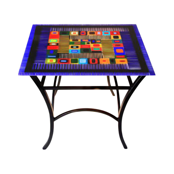 Table Carnival Side Cobalt Blue