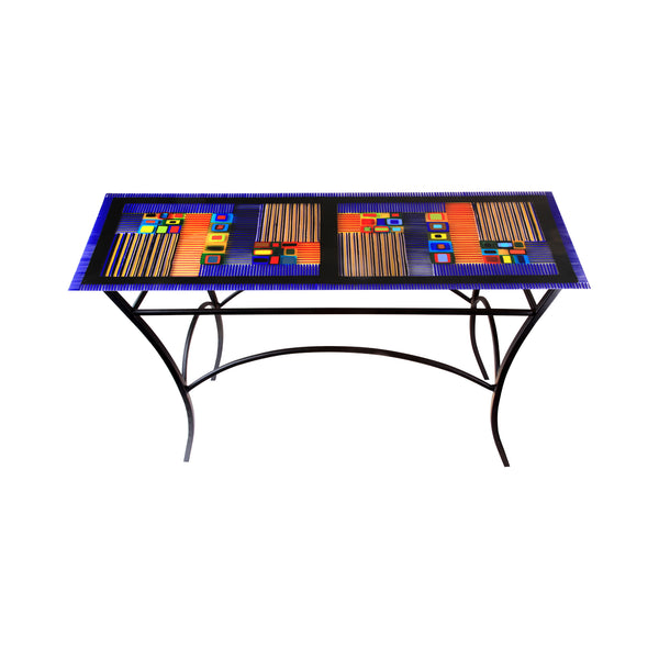 Table Carnival Console Cobalt Blue