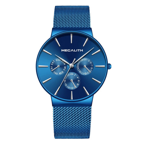 MEGALITH Top Brand Luxury Waterproof Wrist Watch Ultra Thin