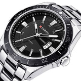CURREN Mens Stainless Steel Luxury Brand Watch