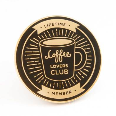 Coffee Lover Club Pin