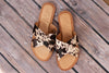 GENUINE COWHIDE SLIP ON SANDALS