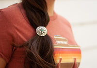 LARGE CONCHO HAIR TIE