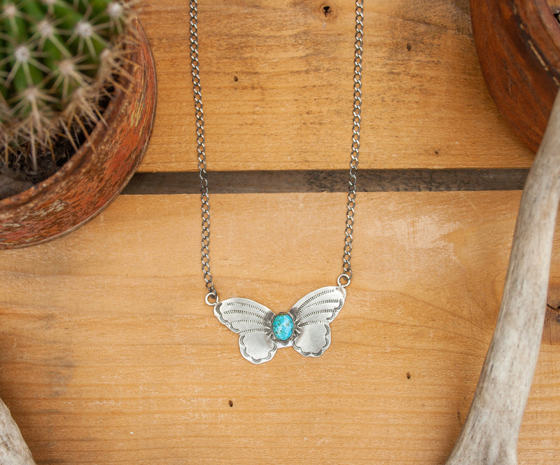 NAVAJO HANDMADE BUTTERFLY NECKLACE