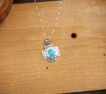 ALLEN LEE NAVAJO CROSS NECKLACE