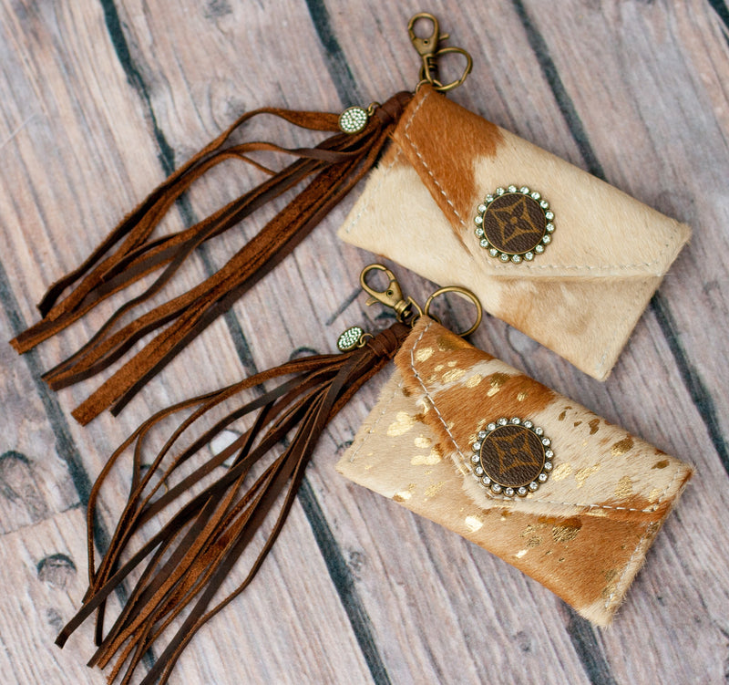 UPCYCLED COWHIDE CARDHOLDERS