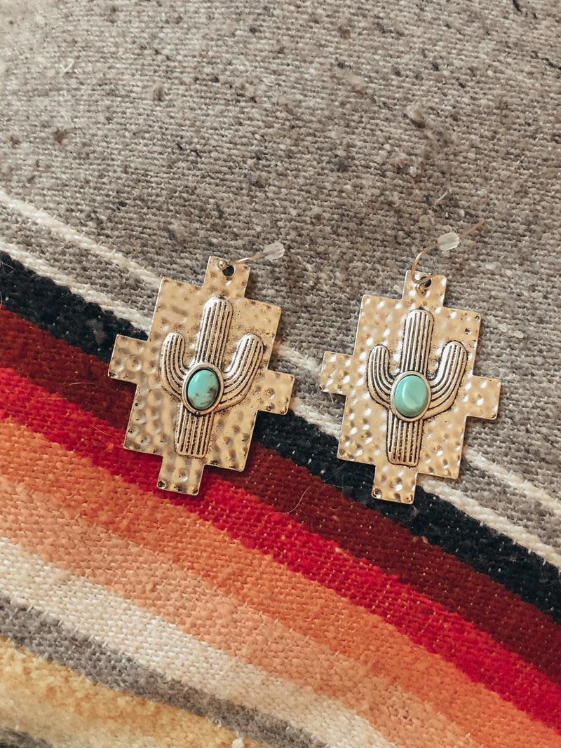 NAVAJO CACTUS EARRINGS