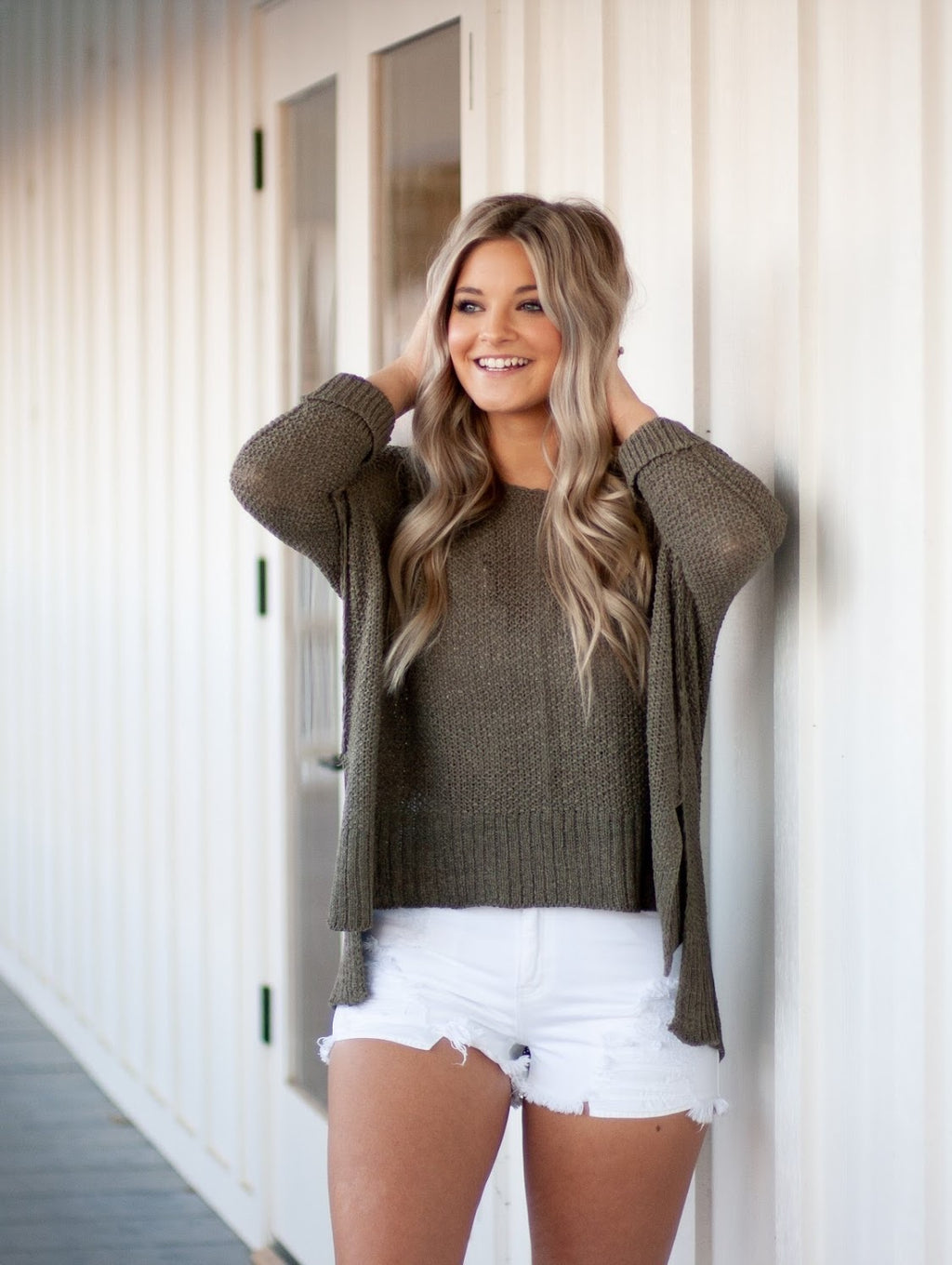 OLIVE LOOSE FIT SWEATER