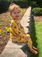Load image into Gallery viewer, Mustard Floral Romper
