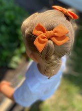 Load image into Gallery viewer, Pumpkin Solid- Fabric Hand Tied Bow